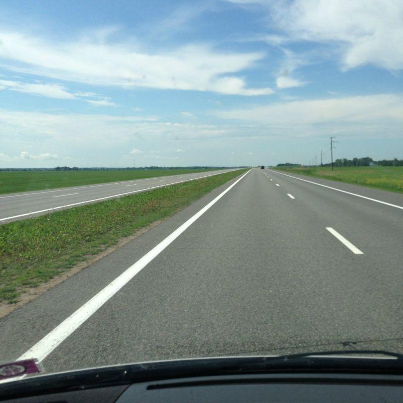 Běloruská dálnice M1 Brest-Minsk - MS v ledním hokeji Bělorusko 2014 - Sportsen.cz