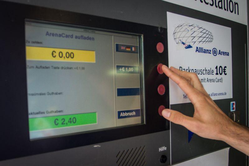 Automat na dobíjení Allianz arena Card - Sportsen.cz